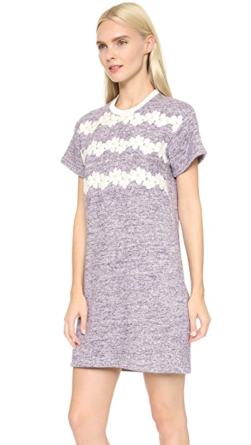 Giamba Applique Sweatshirt Dress