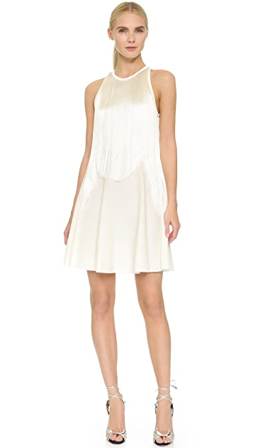 Giamba Sleeveless Fringe Dress