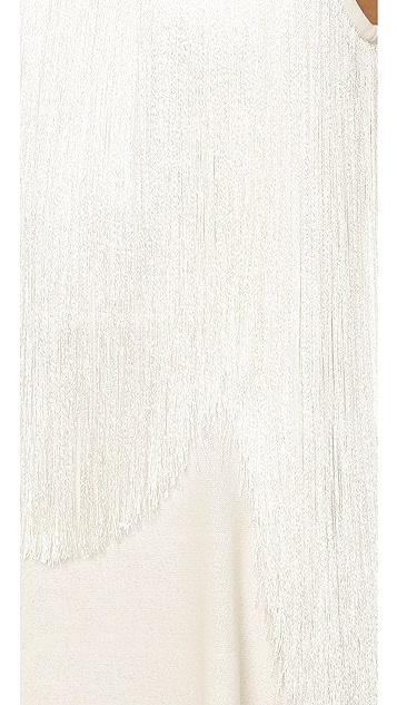 Giamba Sleeveless Fringe Dress