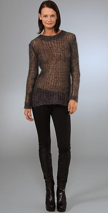Graham & Spencer Long Sleeve Net Sweater