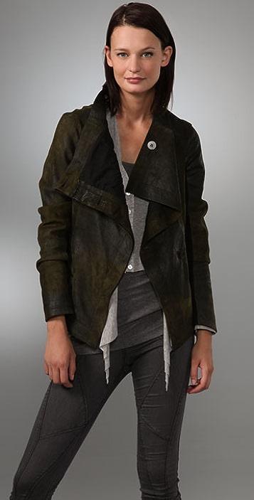 Graham & Spencer Distressed Leather Jacket