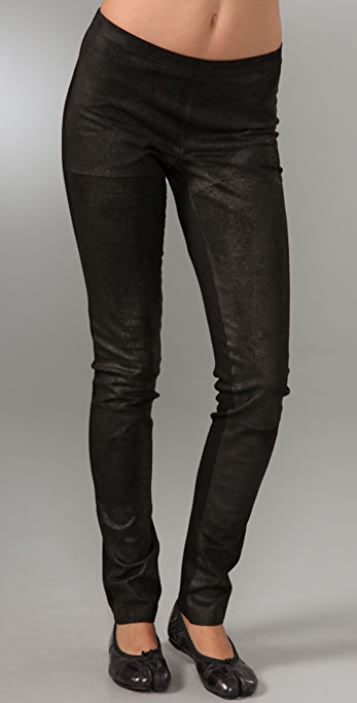 Graham & Spencer Distressed Leather Leggings