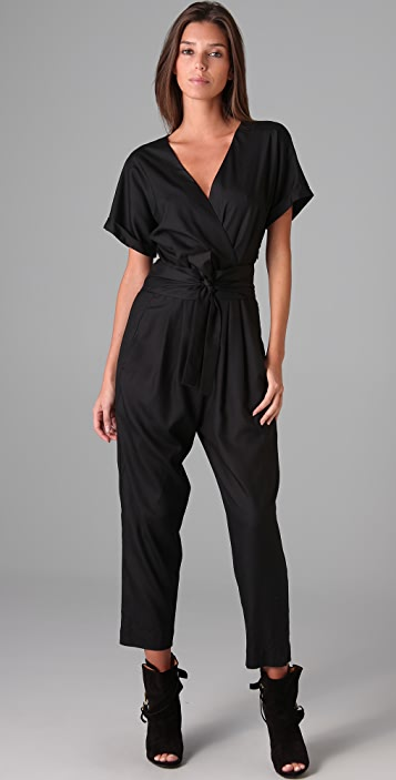 Graham & Spencer Short Sleeve Jumpsuit