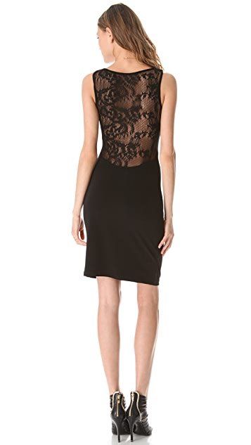 Graham & Spencer Side Ruched Lace Back Dress