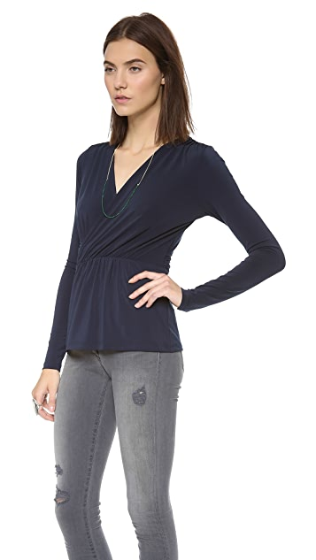 Graham & Spencer Stretch Jersey Draped Top
