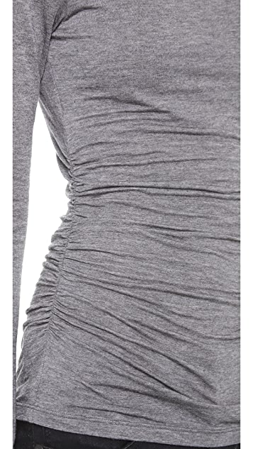 Graham & Spencer Autumn Gauze Ruched Top