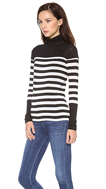 Graham & Spencer Striped Autumn Turtleneck