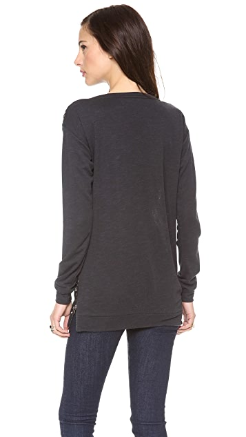 Graham & Spencer Sweater with Lace Detail