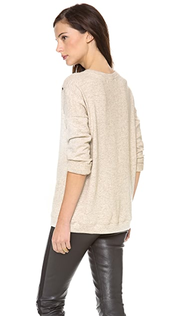 Graham & Spencer Brushed Sweatshirt with Studding Detail