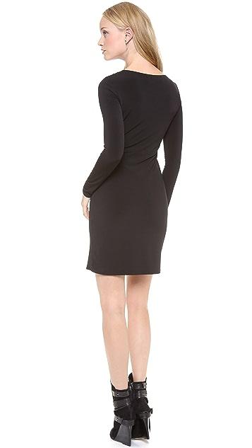 Graham & Spencer Stretch Jersey Long Sleeve Dress