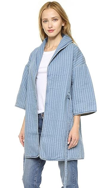 Ganni Blou Denim Coat