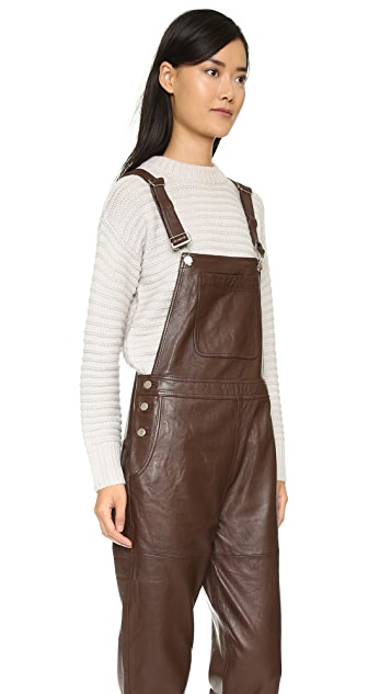 Ganni Passion Dungaree Overalls