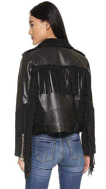 Ganni Moss Leather Jacket