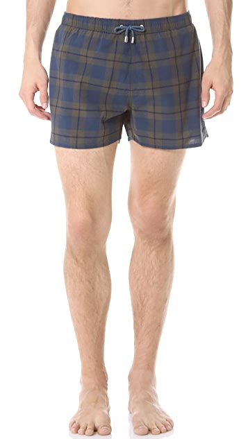 Gant by Michael Bastian The MB Academy Madras Swim Shorts