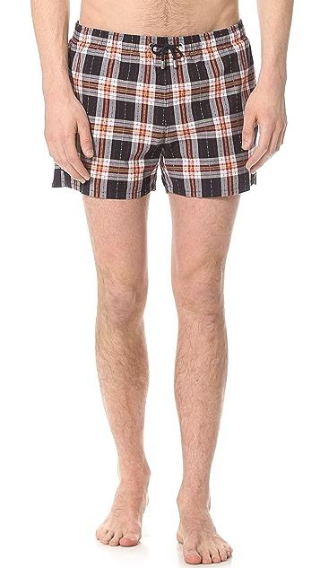 Gant by Michael Bastian The MB Static Check Swim Shorts