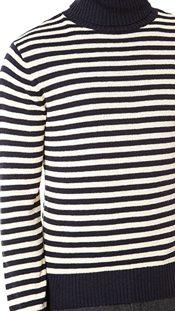 Gant Rugger Stripe Roller Turtleneck Sweater