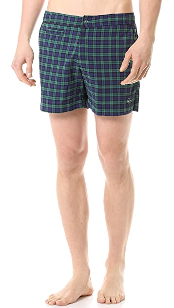 Gant Rugger Black Watch Swim Trunks