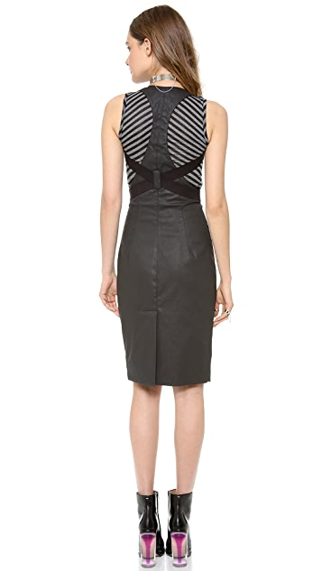 Gareth Pugh Zip Up Skirt with Suspenders