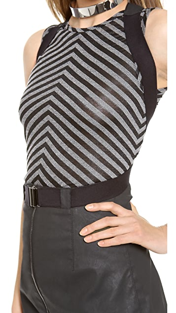 Gareth Pugh Zip Up Skirt with Suspenders