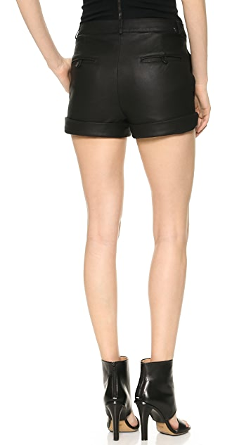 Gareth Pugh Tailored Leather Shorts