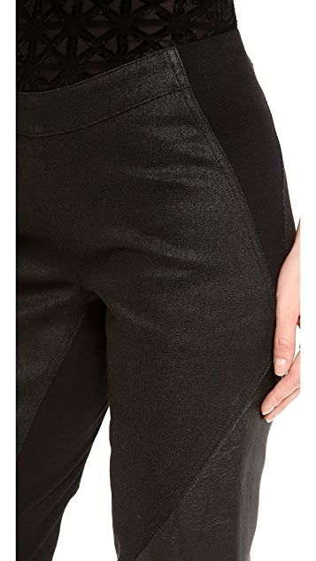 Gareth Pugh Leather Patch Leggings