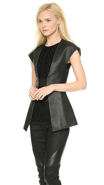 Gareth Pugh Tailored Leather Vest