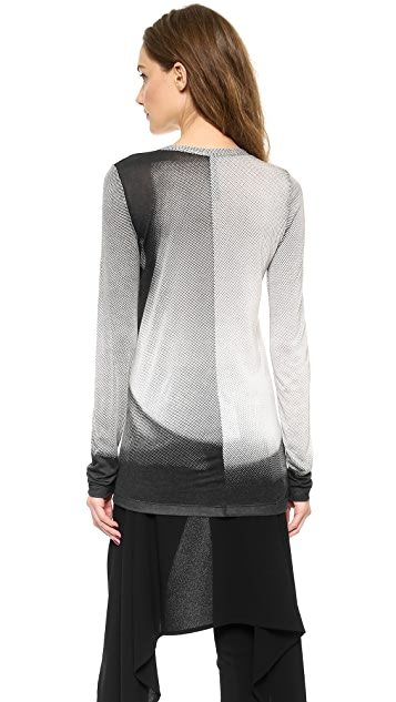 Gareth Pugh Long Sleeve Printed Top