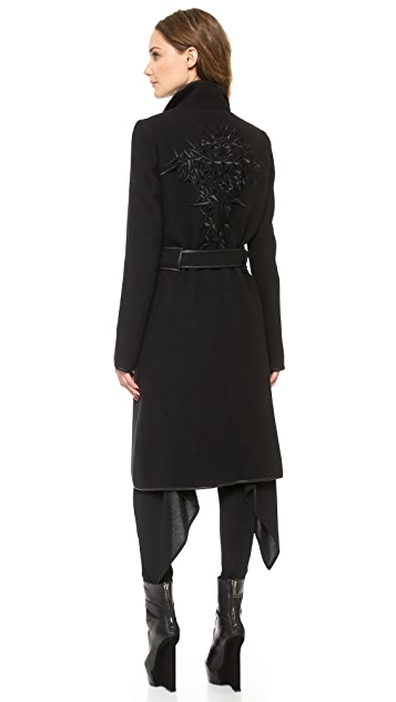 Gareth Pugh Coat with Embroidered Back