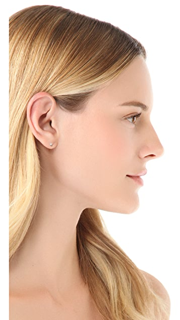 Gabriela Artigas 14k Gold White Diamond Stud Earrings