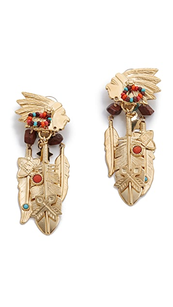 GAS Bijoux Santa Fe Clip On Earrings