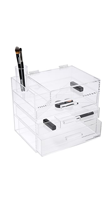 GLAMboxes GLAMpetite Makeup Partial Lid Holder