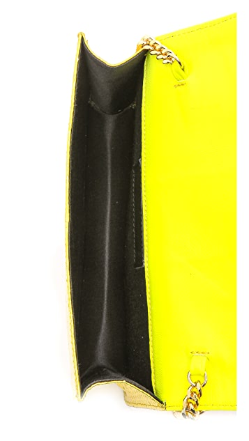 Gedebe Clicky Metallic Snakeskin Shoulder Bag