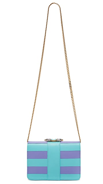 Gedebe Striped Clicky Shoulder Bag