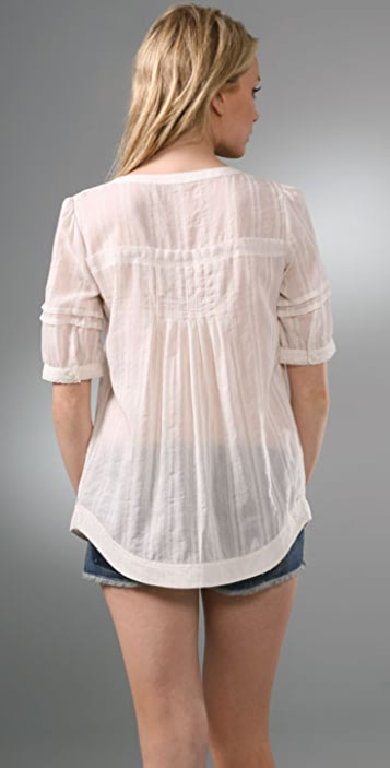 Generra Asymmetrical Button Blouse