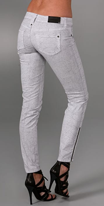 Genetic Los Angeles James Skinny Jeans with Zippers