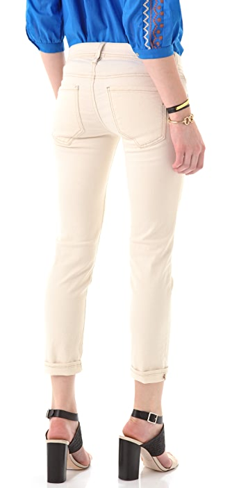Genetic Los Angeles The Liam Straight Leg Crop Jeans