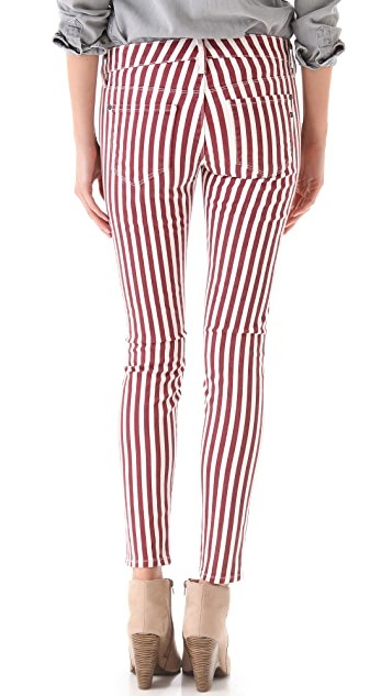 Genetic Los Angeles Shya Striped Cigarette Jeans