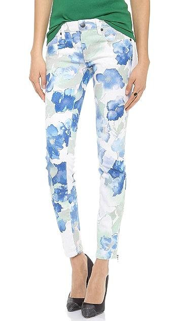 Genetic Los Angeles James Floral Lurex Skinny Jeans