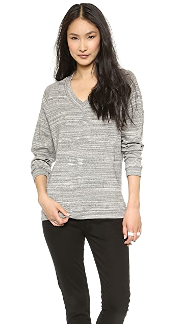GETTING BACK TO SQUARE ONE V Neck Long Sleeve Top