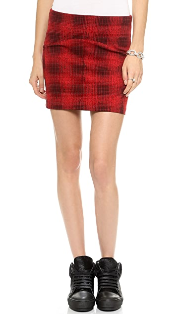 GETTING BACK TO SQUARE ONE Plaid Miniskirt