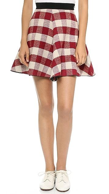 Forte Forte Tartan Circle Skirt