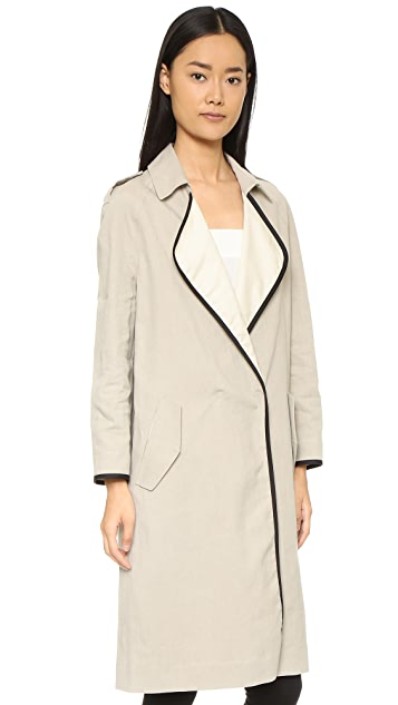Forte Forte Trench Coat with Leather