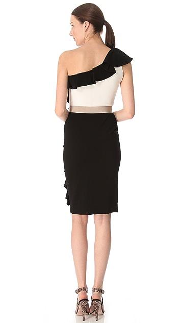 Giambattista Valli One Shoulder Sheath Dress