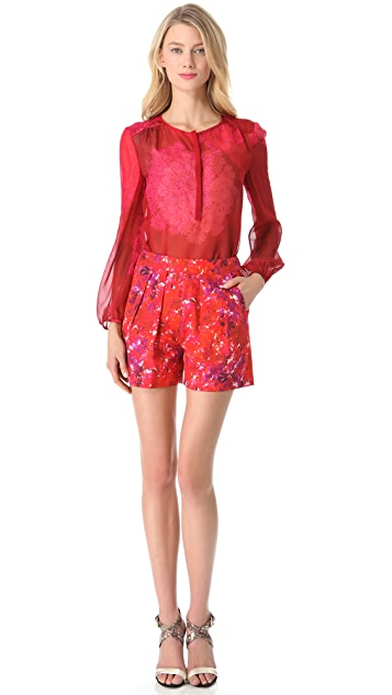 Giambattista Valli Printed Long Sleeve Blouse