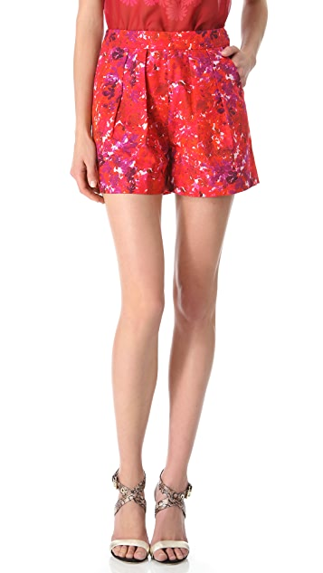 Giambattista Valli Floral Printed Cotton Shorts