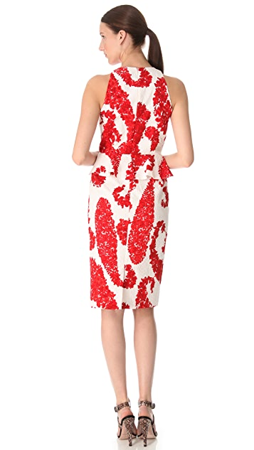 Giambattista Valli Printed Peplum Dress