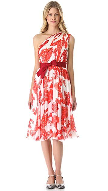 Giambattista Valli One Shoulder Floral Dress
