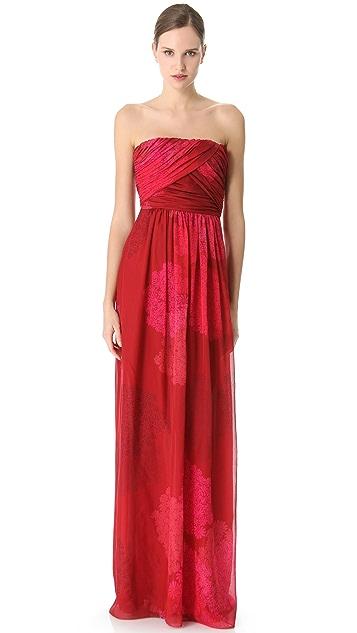Giambattista Valli Gathered Strapless Gown