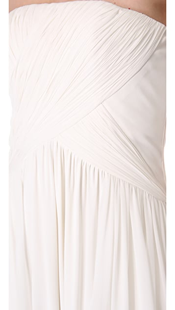 Giambattista Valli Strapless Ruched Dress