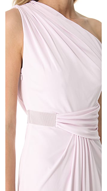 Giambattista Valli One Shoulder Gathered Gown